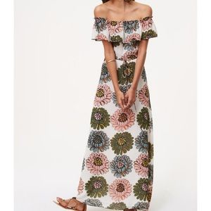 Loft Off the Shoulder Floral Dress